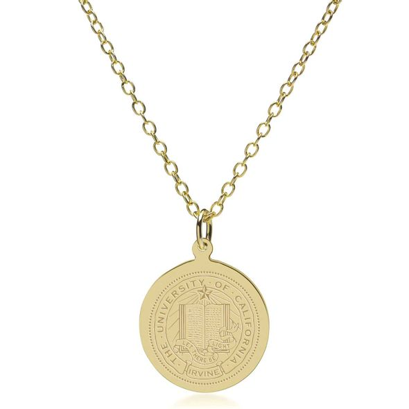 UC Irvine 18K Gold Pendant & Chain - Image 2