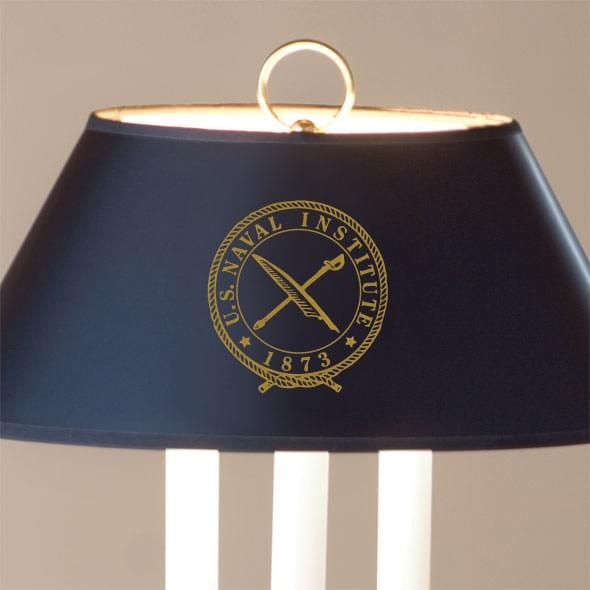 U.S. Naval Institute Lamp in Brass & Marble - Image 2