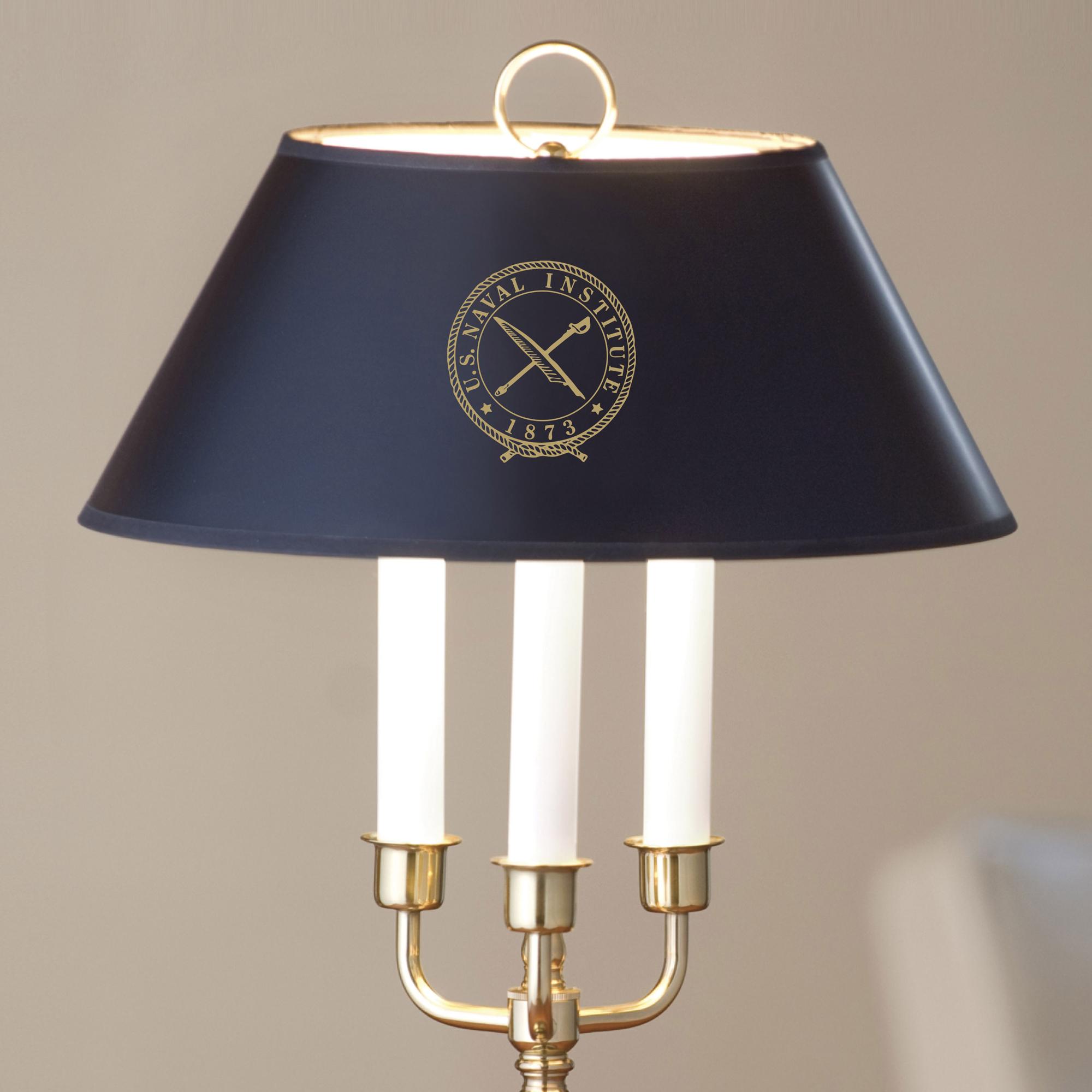 U.S. Naval Institute Lamp in Brass & Marble - Image 2