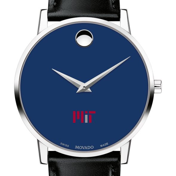 MIT Men's Movado Museum with Blue Dial & Leather Strap - Image 1