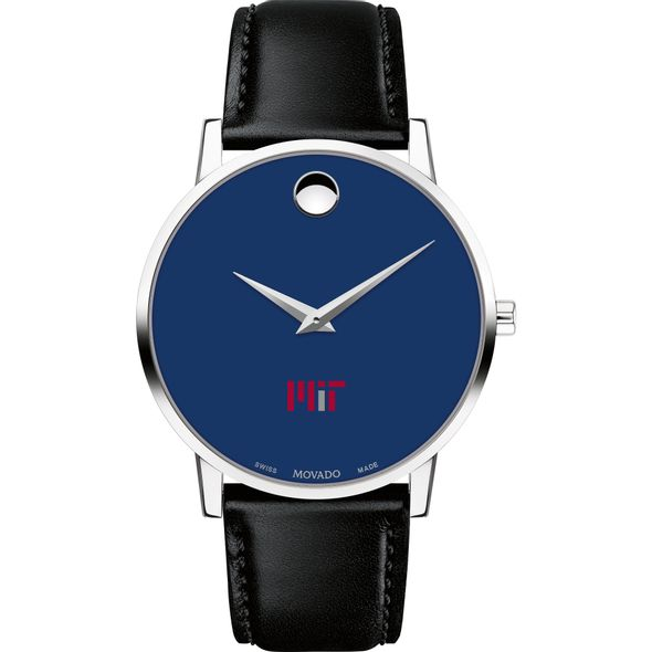 MIT Men's Movado Museum with Blue Dial & Leather Strap - Image 2