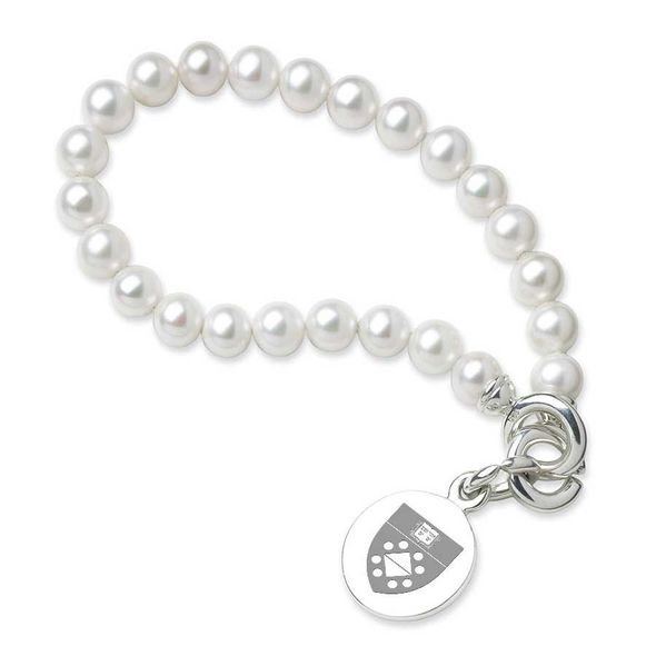 Yale SOM Pearl Bracelet with Sterling Silver Charm - Image 1
