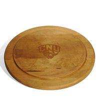 Christopher Newport University Round Bread Server