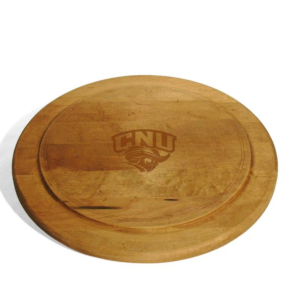 Christopher Newport University Round Bread Server