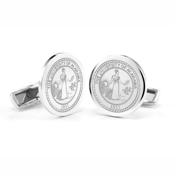 University of Alabama Cufflinks in Sterling Silver