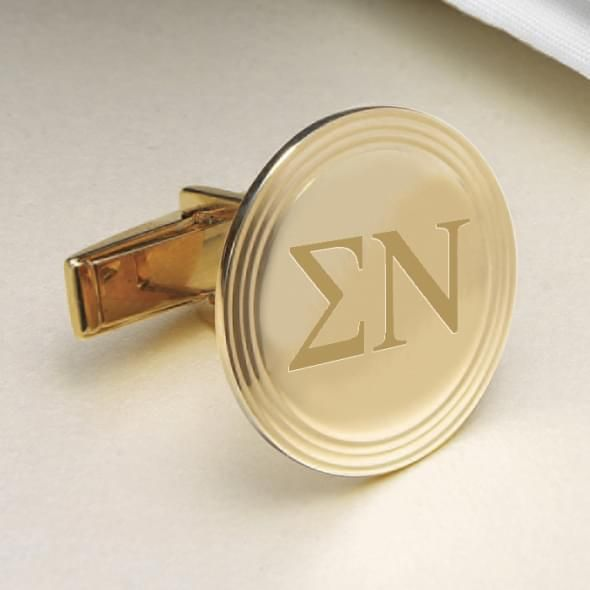 Sigma Nu 18K Gold Cufflinks - Image 2