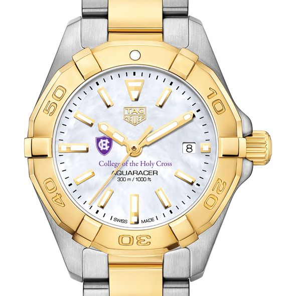 Holy Cross TAG Heuer Two-Tone Aquaracer for Women