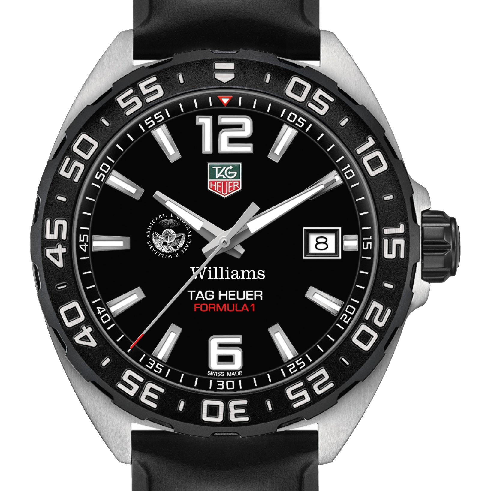 Williams College Men's TAG Heuer Formula 1 with Black Dial - Image 1