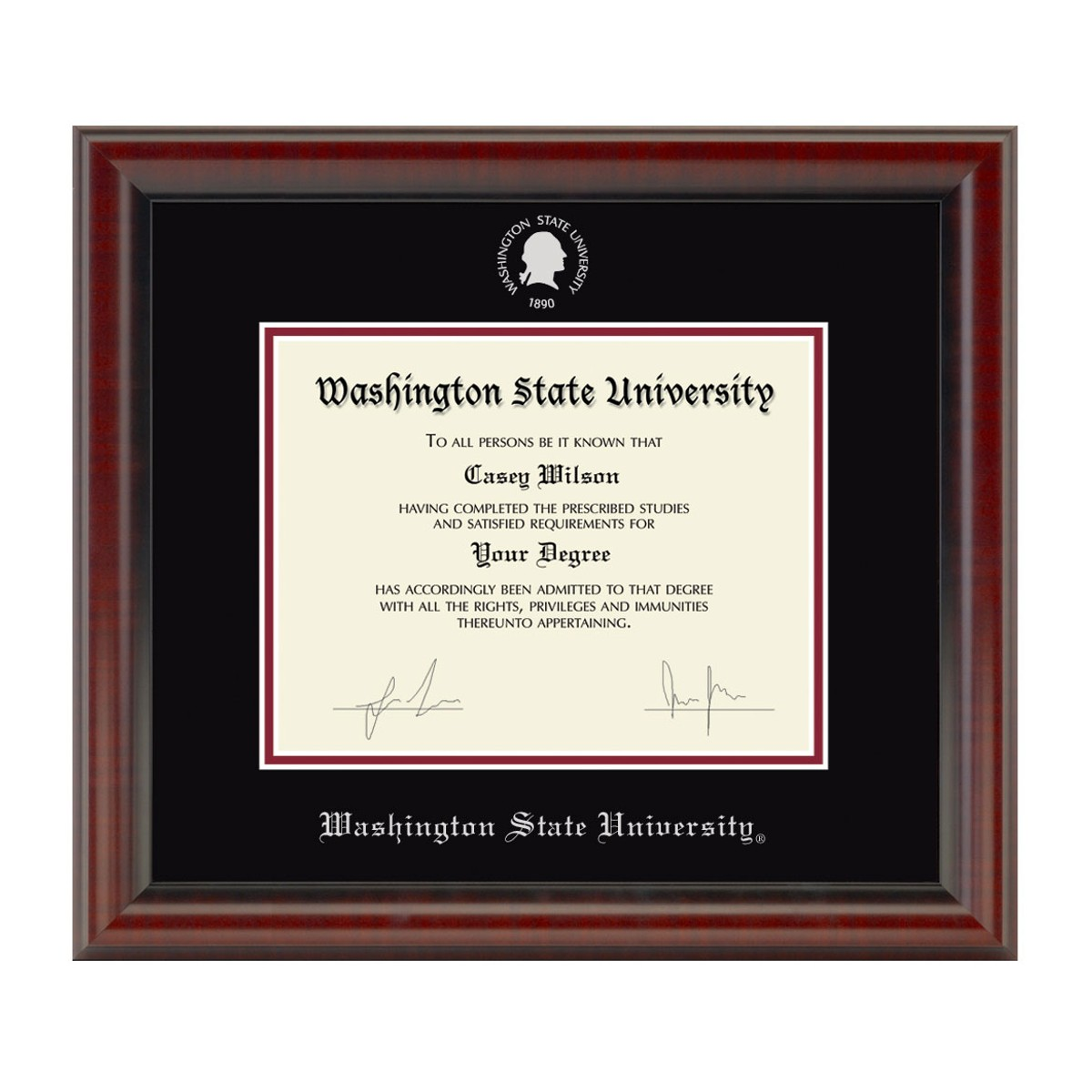 Official Washington State University Diploma Frame The