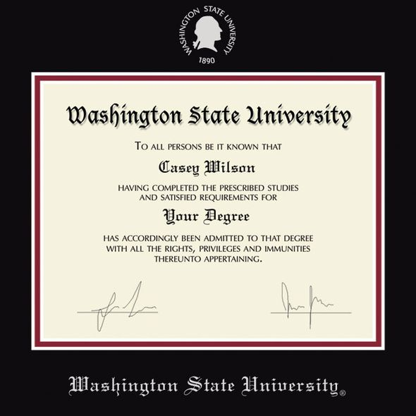 Washington State University Diploma Frame, the Fidelitas - Image 2