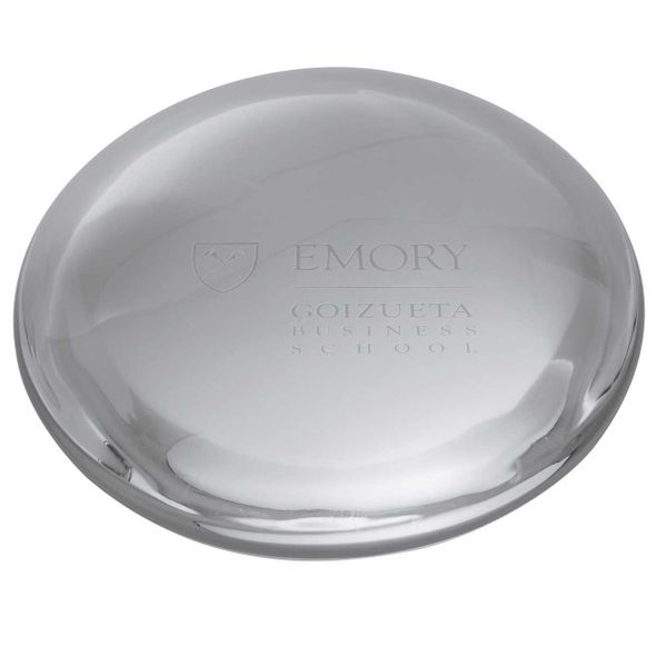 Emory Goizueta Glass Dome Paperweight by Simon Pearce - Image 2