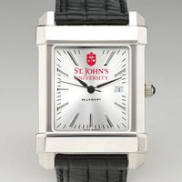 St. John's Men's Collegiate Watch with Leather Strap