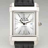 Delta Tau Delta Men's Collegiate Watch with Leather Strap