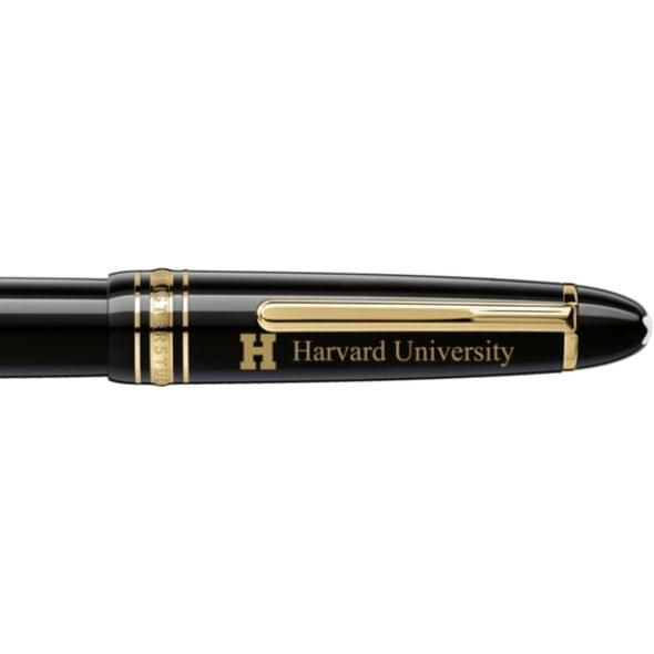 Harvard University Montblanc Meisterstück LeGrand Rollerball Pen in Gold - Image 2