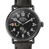 Miami Shinola Watch, The Runwell 41mm Black Dial