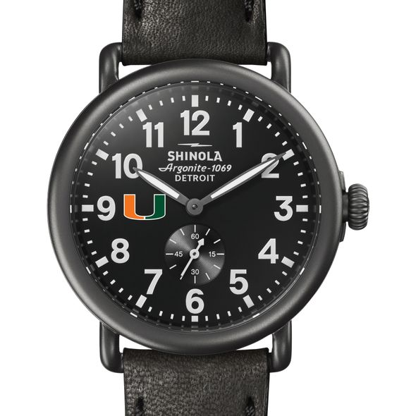 Miami Shinola Watch, The Runwell 41mm Black Dial - Image 1
