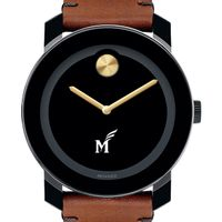 George Mason University Men's Movado BOLD with Brown Leather Strap