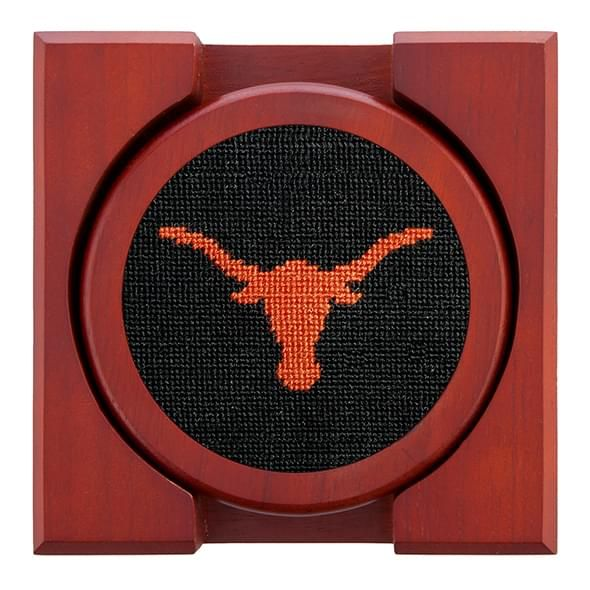 Texas Needlepoint Coasters - Black - Image 2