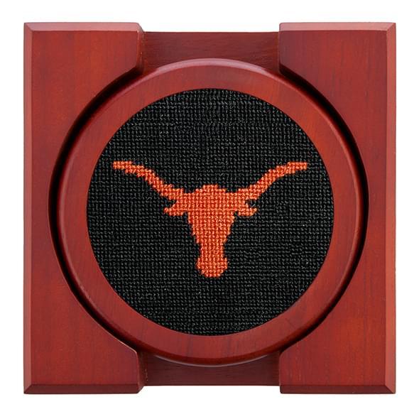 Texas Needlepoint Coasters - Black - Image 2