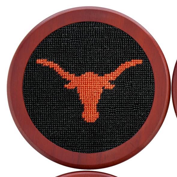 Texas Needlepoint Coasters - Black - Image 3