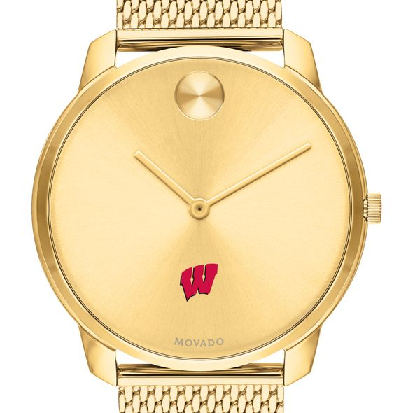 Wisconsin Men's Movado Bold Gold 42 with Mesh Bracelet - Image 1