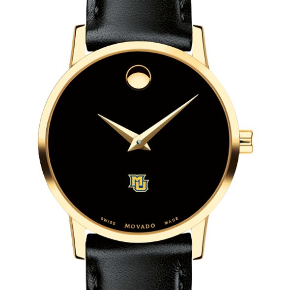 Marquette Women's Movado Gold Museum Classic Leather - Image 1
