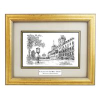 Framed Pen and Ink Holy Cross Print
