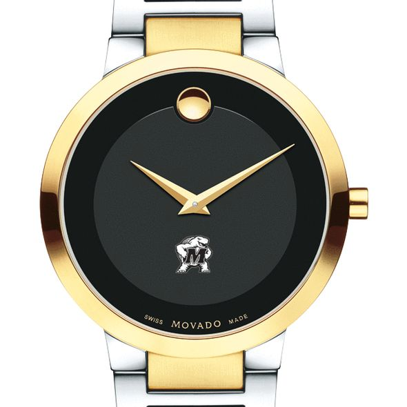 University of Maryland Men's Movado Two-Tone Modern Classic Museum with Bracelet