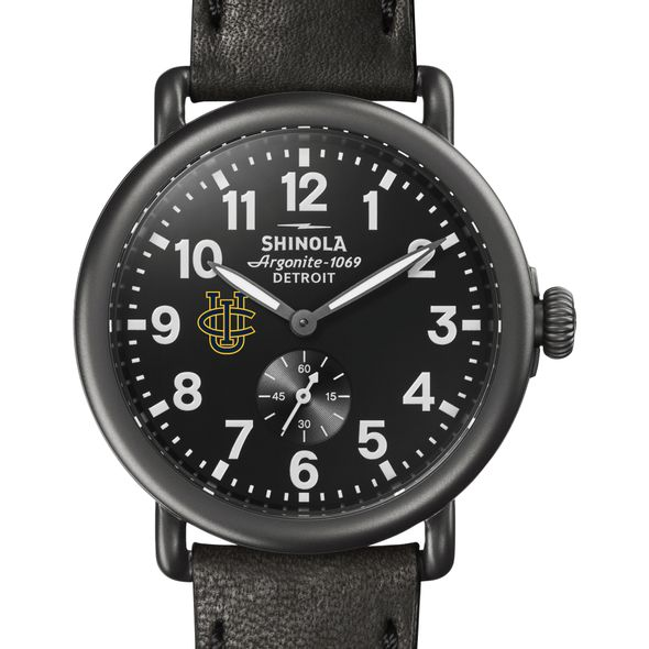 UC Irvine Shinola Watch, The Runwell 41mm Black Dial - Image 1