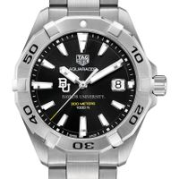 Baylor University Men's TAG Heuer Steel Aquaracer with Black Dial