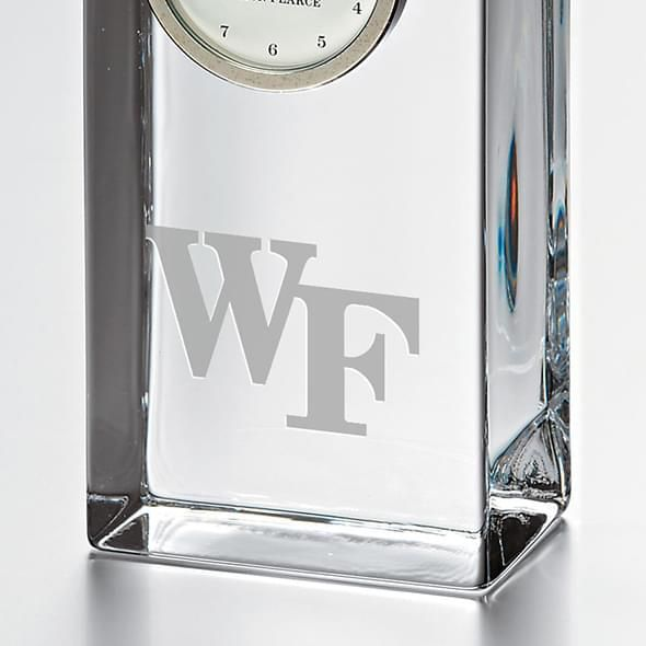 Wake Forest Tall Glass Desk Clock by Simon Pearce - Image 2