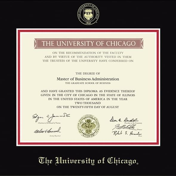 University of Chicago Diploma Frame, the Fidelitas - Image 2