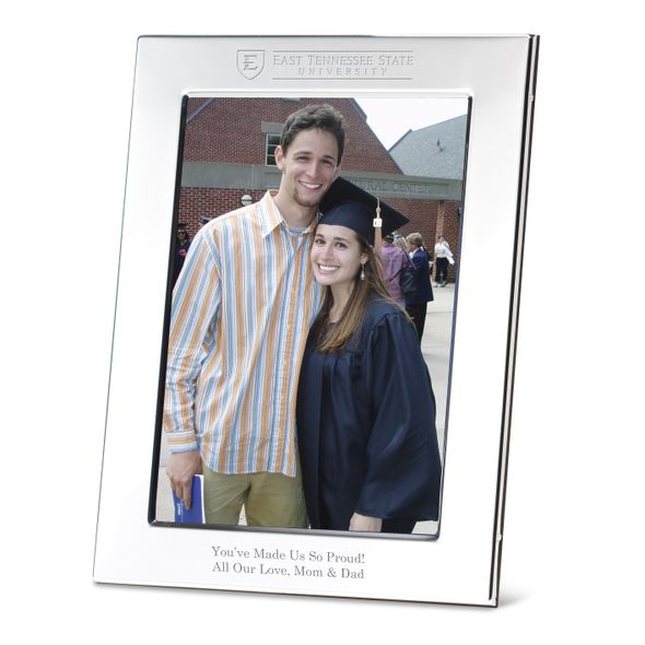East Tennessee State University Polished Pewter 5x7 Picture Frame - Image 1