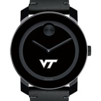 Virginia Tech Men's Movado BOLD with Leather Strap