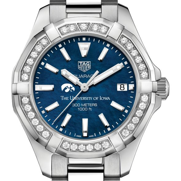 Iowa Women's TAG Heuer 35mm Steel Aquaracer with Blue Dial