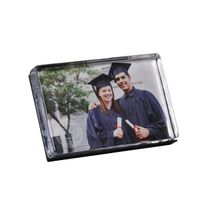 UNC Glass Photo Block by Simon Pearce
