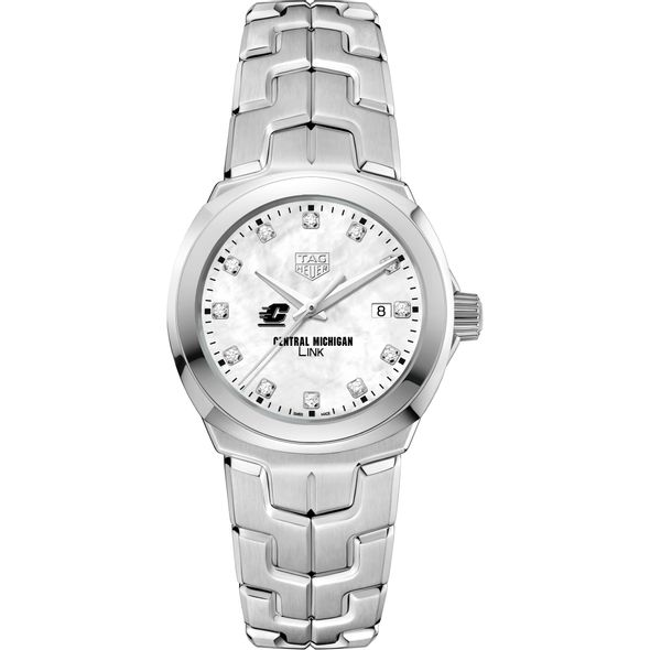 Central Michigan TAG Heuer Diamond Dial LINK for Women - Image 2