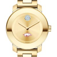 University of Arkansas Women's Movado Gold Bold