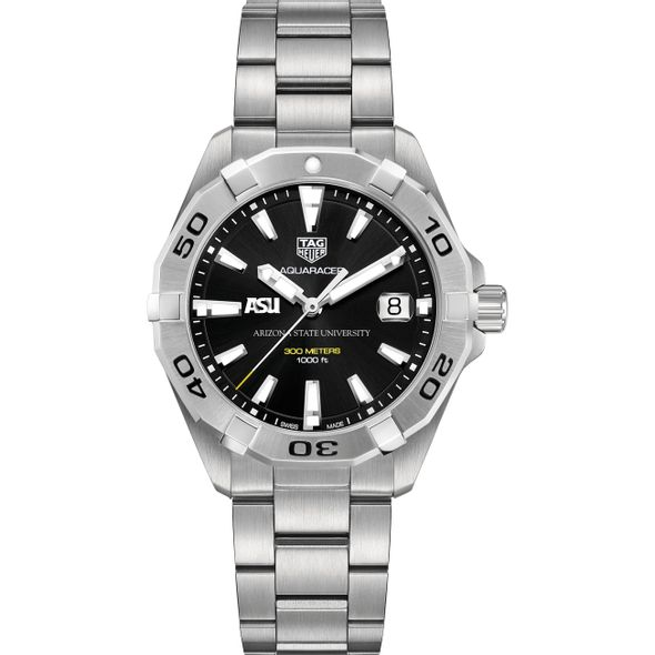 Arizona State Men's TAG Heuer Steel Aquaracer with Black Dial - Image 2