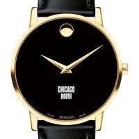 Chicago Booth Men's Movado Gold Museum Classic Leather