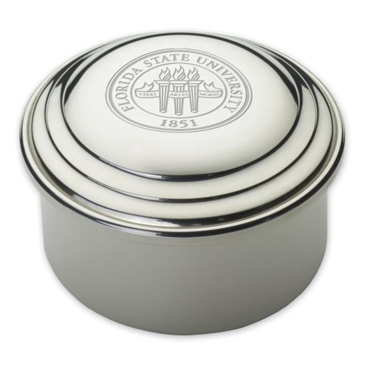 Florida State University Pewter Keepsake Box At M Lahart Amp Co