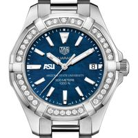 ASU Women's TAG Heuer 35mm Steel Aquaracer with Blue Dial