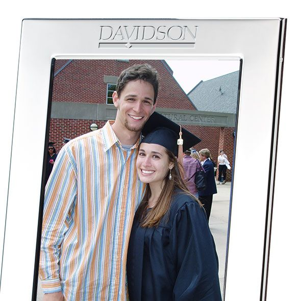 Davidson College Polished Pewter 5x7 Picture Frame - Image 2