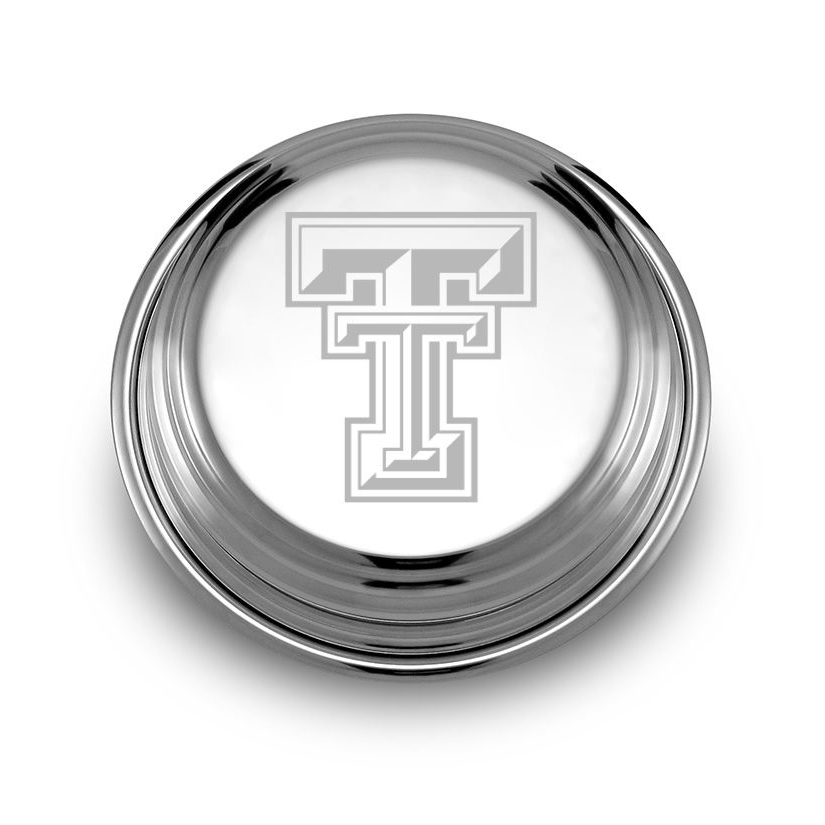 Texas Tech Pewter Paperweight