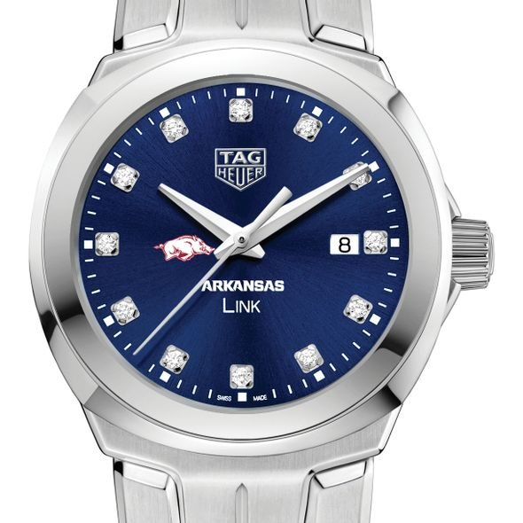 University of Arkansas Women's TAG Heuer Link with Blue Diamond Dial