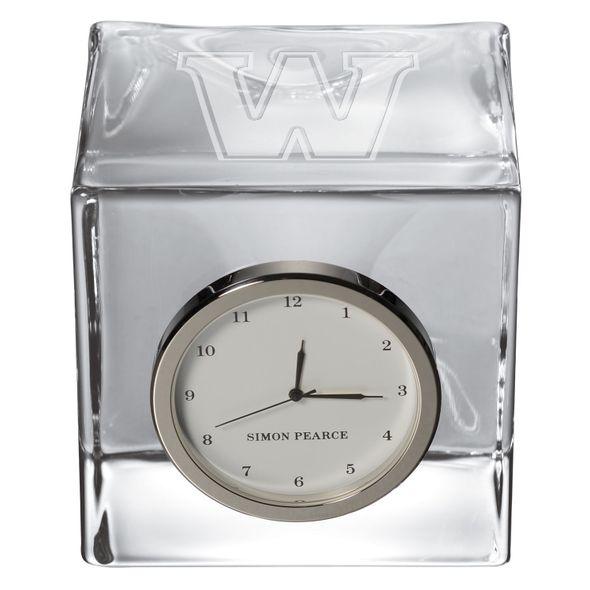 Williams Glass Desk Clock by Simon Pearce - Image 2