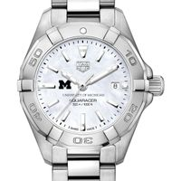 University of Michigan Women's TAG Heuer Steel Aquaracer w MOP Dial