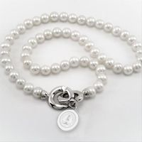 Stanford Pearl Necklace with Sterling Silver Charm