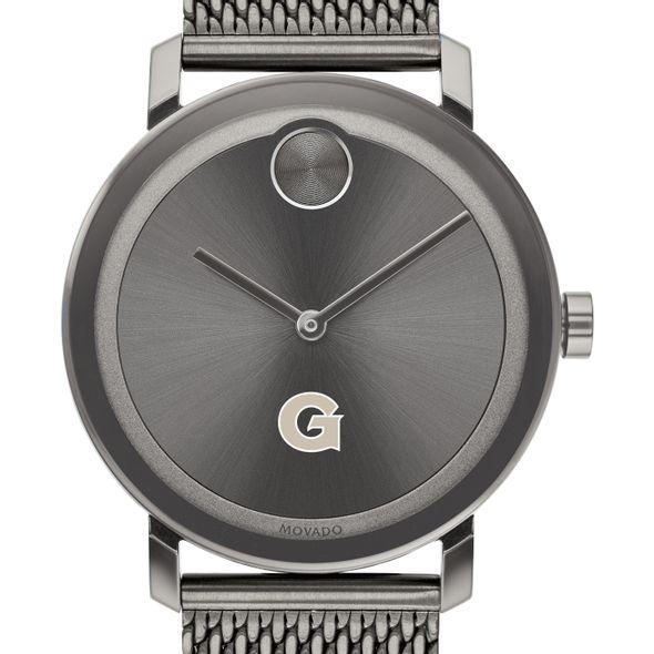 Georgetown University Men's Movado BOLD Gunmetal Grey with Mesh Bracelet