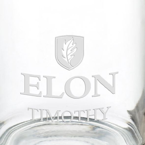 Elon University 13 oz Glass Coffee Mug - Image 3
